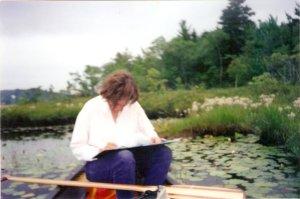 Mapping rare coastal plain plants, Fancy Lake, NS